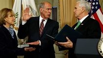 Pence swears in Coats to serve as U.S. Director of National Intelligence (DNI) at the U.S. Capitol in Washington