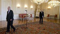 Prezident Miloš Zeman a premiér a šéf ČSSD Bohuslav Sobotka.