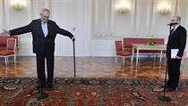 Prezident Miloš Zeman přijal premiéra Bohuslava Sobotku.