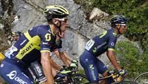 Roman Kreuziger během vıjezdu na kopec na Tour de France.