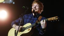 Ed Sheeran při pražském koncertě v Tipsport areně.