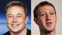 Elon Musk a Mark Zuckerberg.