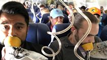 Fotka cestujícího Martyho Martineze přímo z paluby letadla.