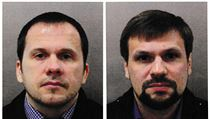 Alexander Petrov a Ruslan Boshirov, obvinění z pokusu o vraždu Sergeje Skripala...