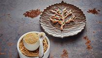 Ukázka jídla z kuchyně Radka Kašpárka v restauraci Field: husí játra,...