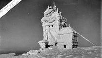 Krutá zima roku 1929: vrchol Sněžky.