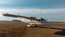 Partenavia P68, jeden z dvojice letounů, které se budou mezi květnem a zářím...
