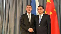 Českı premiér Andrej Babiš (ANO) se setkal se svım čínskım protějškem Li...