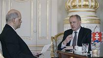 Rozhovor Roberta Schustera se slovenskım prezidentem Andrejem Kiskou.