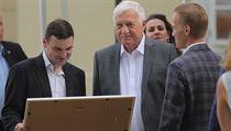 Exprezident Klaus oslavil 78. narozeniny na zámečku na pražské Hanspaulce.