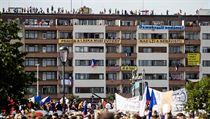 Protivládní demonstrace na Letné přilákala přes 250 tisíc lidí.