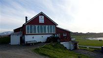 Hov Gard, koňská farma ležící pod horou Hoven, kde pracuje můj kolega Ondřej.
