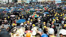Další ze série protestů v Hongkongu.