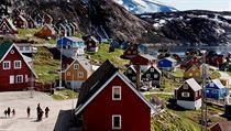 Městečko Upernavik na západě Grónska.