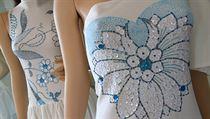 Práce na kolekci trvala zhruba měsíc a půl a k šatům si návrhářka za tu dobu...