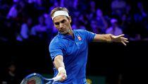 Roger Federer je v Laver Cupu ve dvouhře i třetí rok po sobě neporazitelnı.