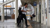 Silnı vítr a déšť doprovází tajfun