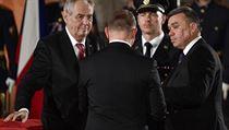 Prezident Miloš Zeman při příležitosti 101. vıročí vzniku samostatného...