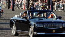 Japonskı císař Naruhito absolvoval slavnostní průvod u příležitosti svého...