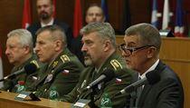 Andrej Babiš na velitelském shromáždění.