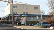 Lékárna v areálu benešovské nemocnice, jejíž provoz ochromil 11. prosince 2019...