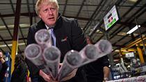 Britskı ministr Boris Johnson během kampaně