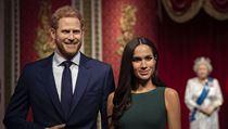 Voskové figuríny prince Harryho a vévodkyně Meghan