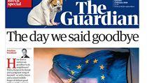 Titulní strana listu The Guardian 1. února 2020.
