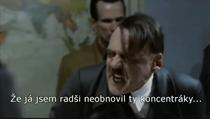 Scéna z filmu Pád Třetí říše, ve které se Adolf Hitler rozčiluje ve svém...