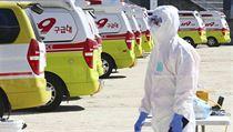Záchranáři v Koreji jsou pohotovosti.
