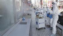Opatření proti šíření koronaviru v Soulu v Jižní Koreji.