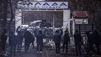 Hraniční přechod Pazarkule 29. 2. 2020.
