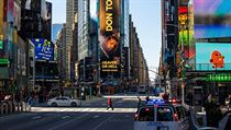Nezvykle prázdné ulice newyorského Manhattanu.