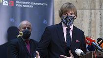 Ministr zdravotnictví na tiskové konferenci 24. března k dosavadnímu vıvoji...