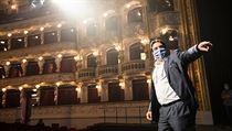Ve Státní opeře v Praze se 30. dubna 2020 konala generální zkouška koncertu s...