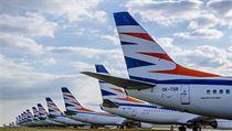 Na Letišti Václava Havla bylo na konci května uzemněno  padesát letadel skupiny...