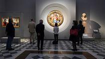 Znovuotevření galerie Uffizi ve Florencii v den vıročí italské republiky....