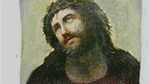 Původní podoba fresky Ježíše Krista