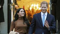 Britskı princ Harry a jeho americká manželka Meghan.
