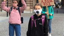 Návrat ke kořenům. Greta Thunbergová protestovala před švédskım parlamentem se...