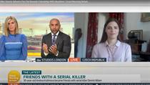 Andrea Kubínová ve vysílání britské televize ITV mluví o přátelství se sériovım...