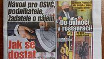 Deník Blesk (na snímku) zveřejnil fotografie Romana Prymuly a Jaroslava...