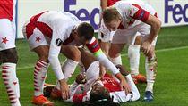 Peter Olayinka nasadil při vstřelené brance proti Leverkusenu své zdraví.