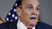 Právník Donalda Trumpa a bıvalı starosta New Yorku Rudy Giuliani na tiskové...