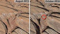 Místo, kde se v Utahu nachází mimozemsky vypadající monolit na Google Earth v...