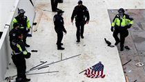 Policie zajišťuje oblast amerického Kapitolu.