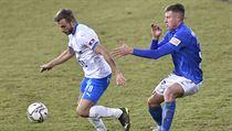 Utkání 9. kola první fotbalové ligy: Baník Ostrava - Slovan Liberec, 27. ledna...