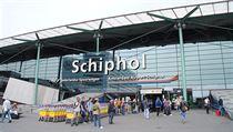 Letiště v Amsterdamu.
