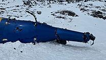 Trosky vrtulníku na Aljašce, v němž zahynul Petr Kellner.