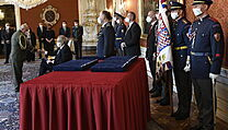 Prezident Miloš Zeman jmenoval v Praze nové generály.